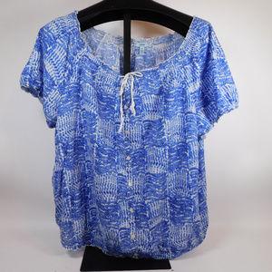 Izod Women's Tie-front Blouse 1X CL1999 1019